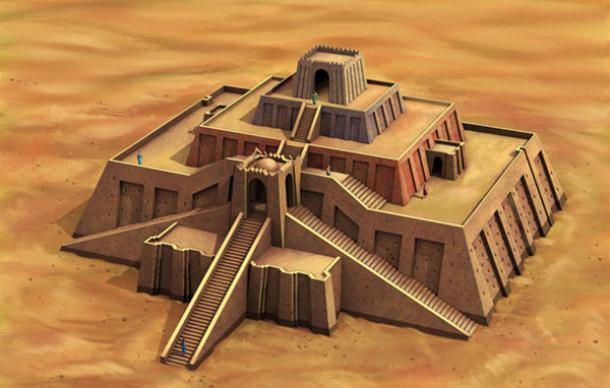 The Great Ziggurat of Ur Ziggurat Mesopotamia Model