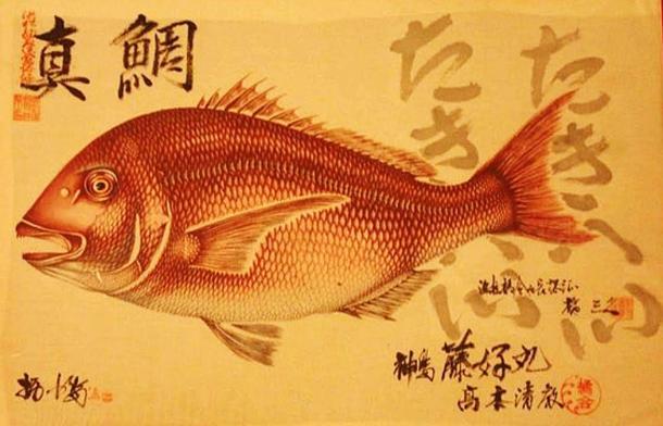 An example of Gyotaku art.