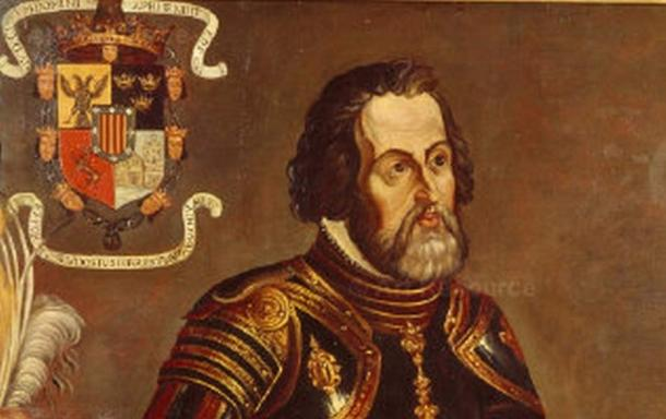 Hernan Cortes Famous Painting