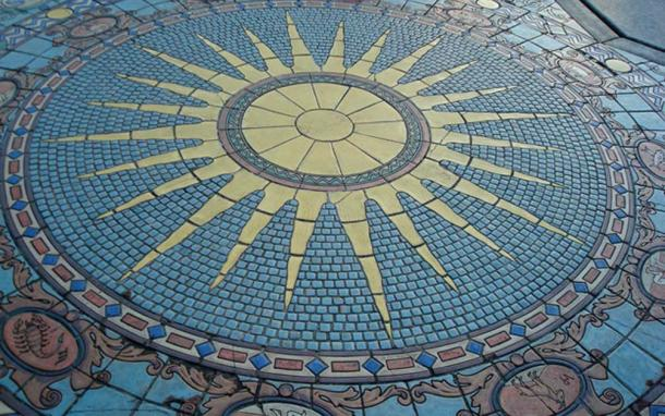 Astrology Tile Mosaic, Ringling's Mansion (Courtyard)
