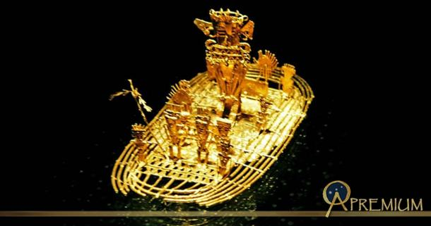 The Muisca raft was dated to between 1200 to1500 BC. Made of 80% gold alloy, with silver and copper, it was created using the lost wax casting method.