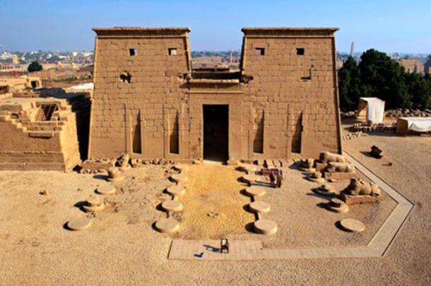 The south facing entrance of Khonsu Temple, located in the Karnak Temple Complex on Luxor`s East Bank. Source: ARCE / Fair Use.