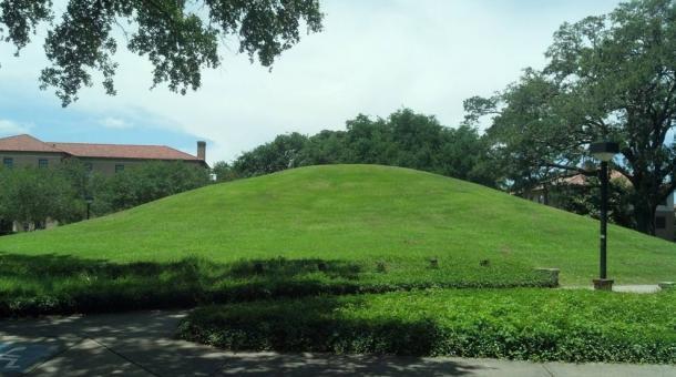 LSU campus Native American Mound
