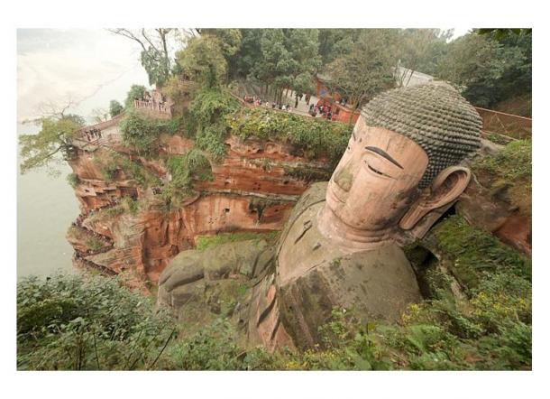 Leshan Giant Buddha is the world's largest stone-carved Buddha