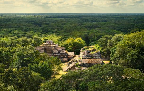Ek Balam Maya Archeological Site. Maya Ruins, Yucatan Peninsula. Credit: bobiphil / Adobe Stock