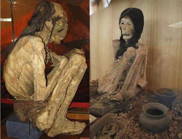 A mummy unearthed in the Atacama Desert.