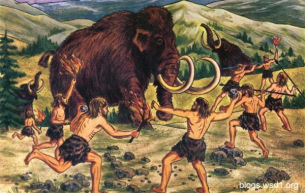 Neanderthal Shelter neanderthals cleared of herding mammoth over cliff ...