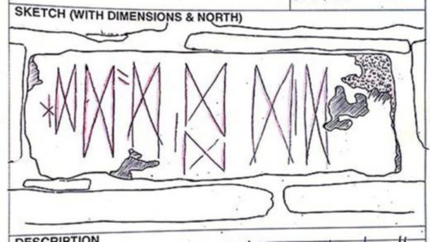 Neolithic Butterfly-Like Markings Discovered Through A