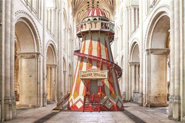 An artist's rendition of the Norwich Cathedral's helter skelter. Credit: Annette Hudson / Paul Hurst / Irvin Leisure / Norwich Cathedral.