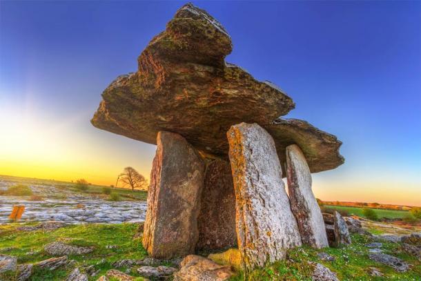 Poulnabrone portal tomb in Burren at sunrise, Ireland Source: Patryk Kosmider