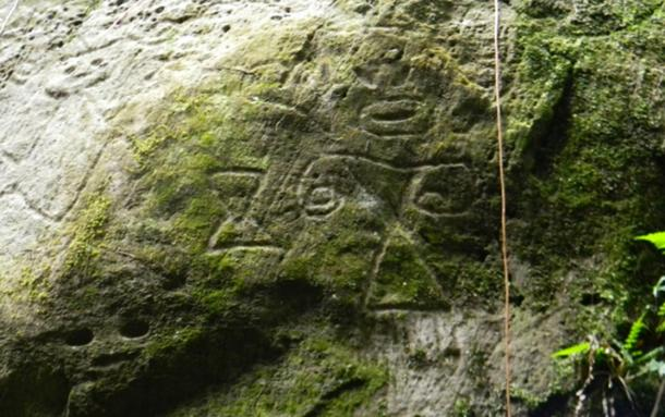 Newly discovered petroglyphs at Montserrat.