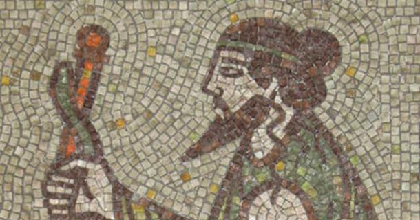 Asclepius – a fragment of mosaic bathroom in Kyustendil, Bulgaria.