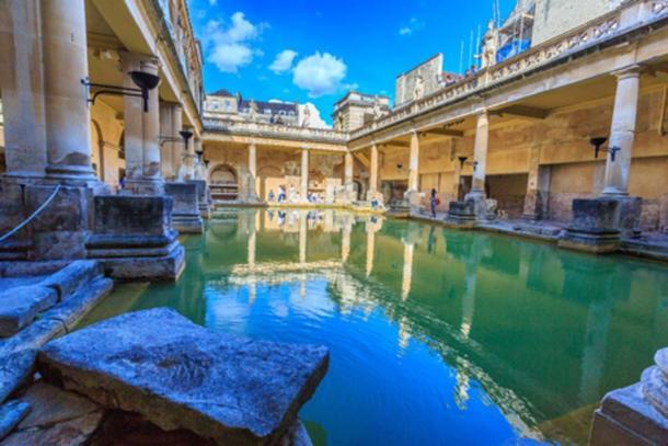 Roman Baths Museum at Bath in UK.