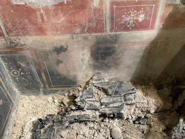 """Researchers found the charred remains of wooden furniture at the site of the former Astra cinema in Verona leading them to the discovery of the ancient Roman building that is now being called a """"miniature Pompeii."""""""
