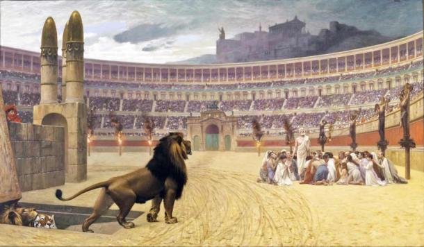 Roman executions at the Colosseum were a gruesome affair, as depicted in The Christian Marturs' Last Prayer by Jean-Léon Gérôme. Source: Public domain