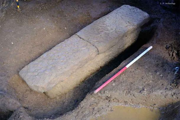 A Roman Coffin has been unearthed during restoration works in Bath.