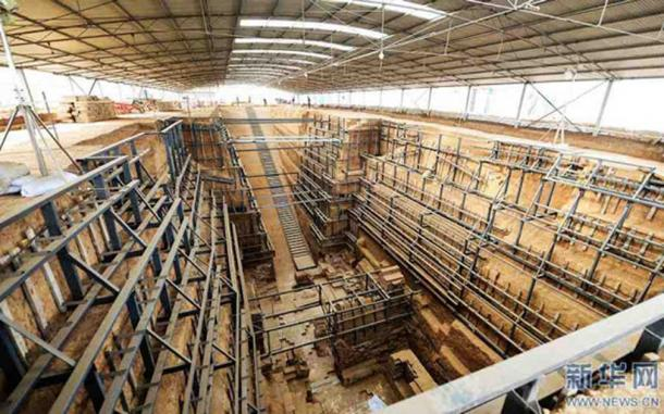The royal tomb unearthed in Henan province, which may belong to the empress of Cao Rui (news.cn)