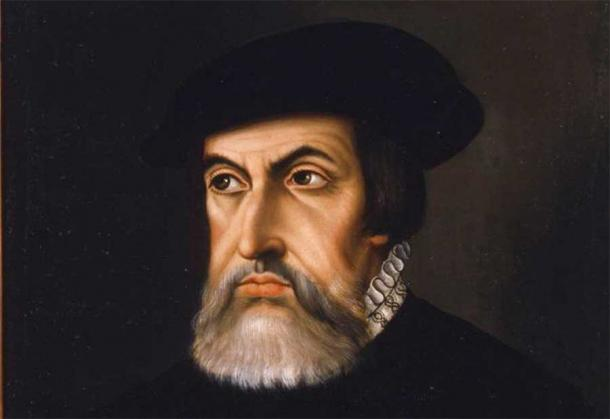 Portrait of Hernán Cortés. A stolen letter to Cortés has been tracked to a New York auction house.