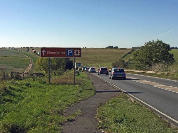 The Stonehenge tunnel is supposed to help traffic in the area. The A303 is in the foreground. Source: diamond geezer / CC BY-NC-ND 2.0