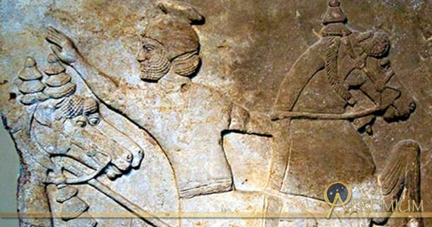 Assyrian relief of a horseman from Nimrud, now in the British Museum