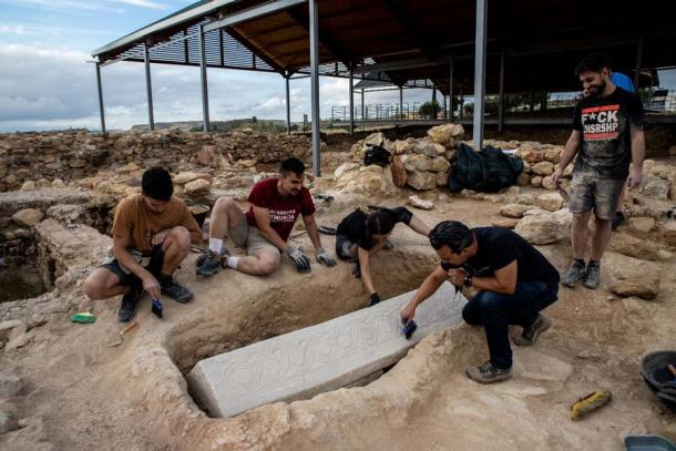 The discovery of the Visigoth sarcophagus in an abandoned Roman villa in the Murcia region of Spain.