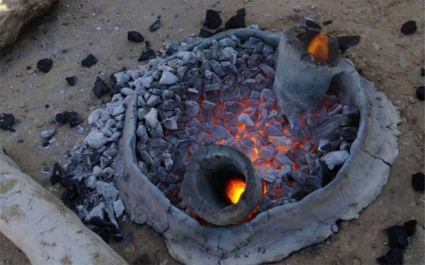 Hi-tech Metal Furnace of the Negev Alchemists Incinerates History