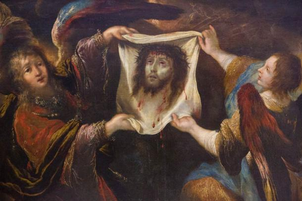 Angels holding the Veil of Veronica