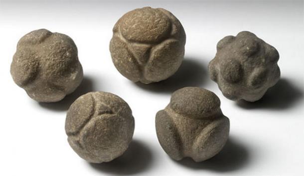 Strange Prehistoric Carved Stone Balls - Atom