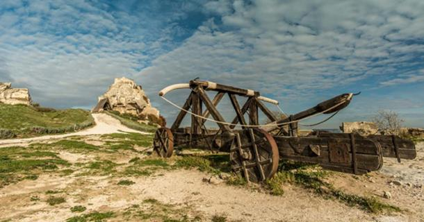 Old catapult in Les Baux-de-Provence, France