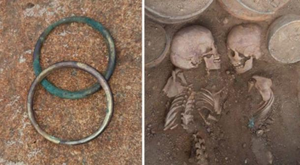 The rich double burial contained the skeletons of a male and female, who may have been a prince and princess. Source: Tengri News