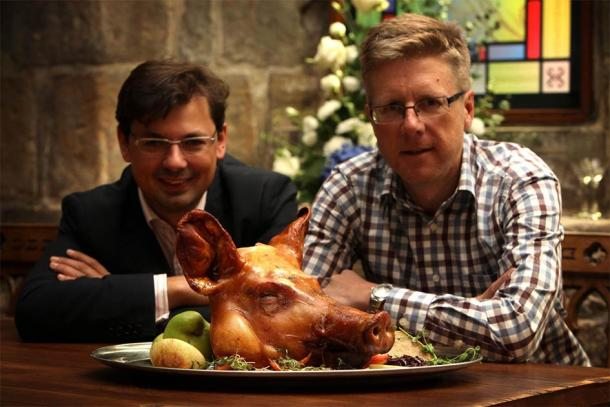 Andy Hook from Blackfriars Restaurant in Newcastle has joined forces with Giles Gaspar from Durham University's Institute of Medieval and Early Modern Studies, along with a group of scholars and chefs, to create a series of courses aiming to teach students about medieval food. Source: Eat Medieval