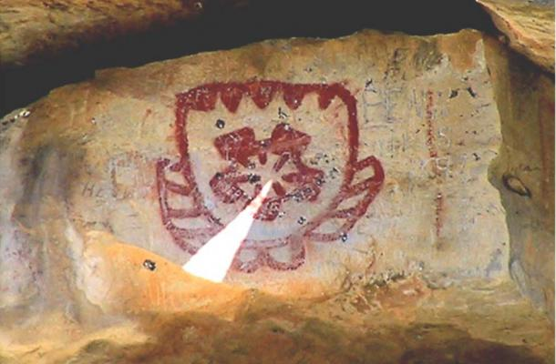 a thousand years ago  native americans aligned drawings