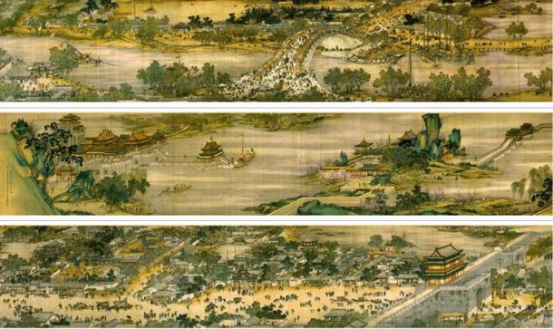 5-meter long ancient scroll painting is one of the most precious treasures of China