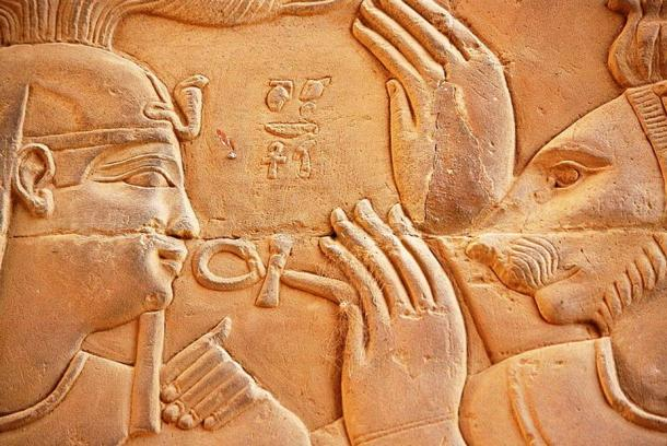 Year old relief carvings and decorated stone blocks
