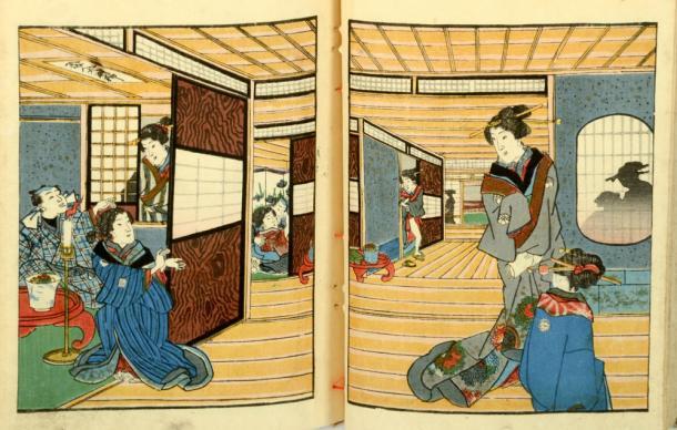 Japanese erotic art. Credit: fotoember / Adobe Stock