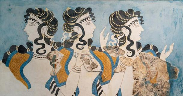 Controversy Over the Ladies in Blue: Is Most Famous Fresco of the Minoans Just a Modern Interpretation?