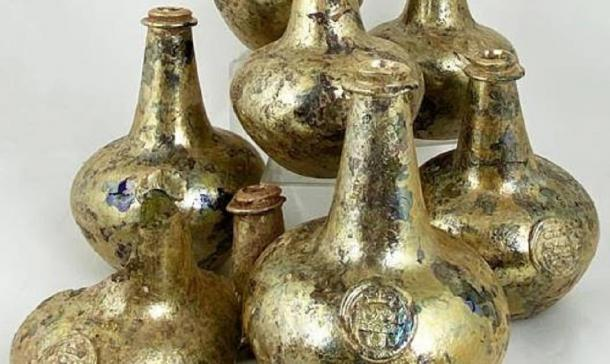 Ancient wine bottles discovered by construction crew to be auctioned off. Source: ©BBR Auctions.