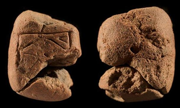 Front and rear views of the second figurine found at Orkney. Archaeologists speculate they were used as fertility fetishes or objects through which worship was channeled.