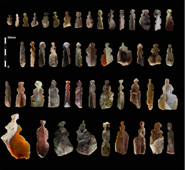 The Neolithic figurines found in Jordan were of differing shapes and sizes. (Kharaysin archaeological team / Antiquity Publications Ltd)