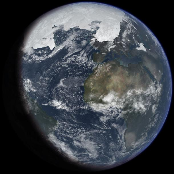 Artist's impression of the last ice age.