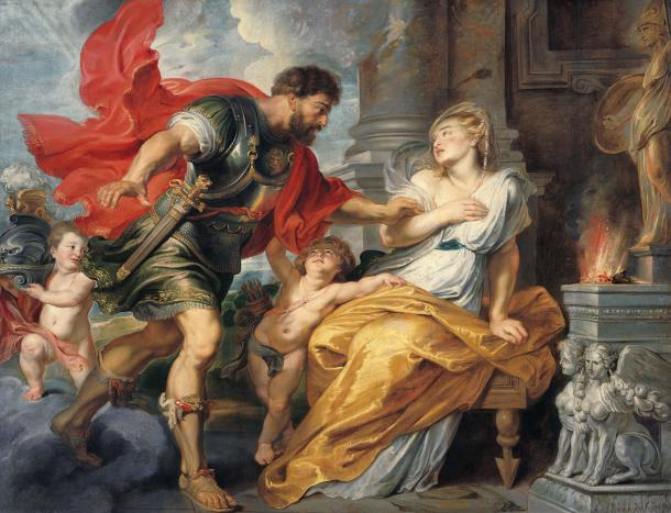 Mars and Rhea Silvia by Peter Paul Rubens, c. 1617/20.
