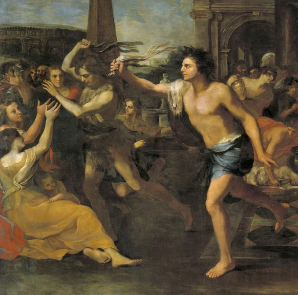 Detail from Lupercalia by Andrea Camassei, c. 1635.