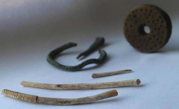The first artifacts from the site.