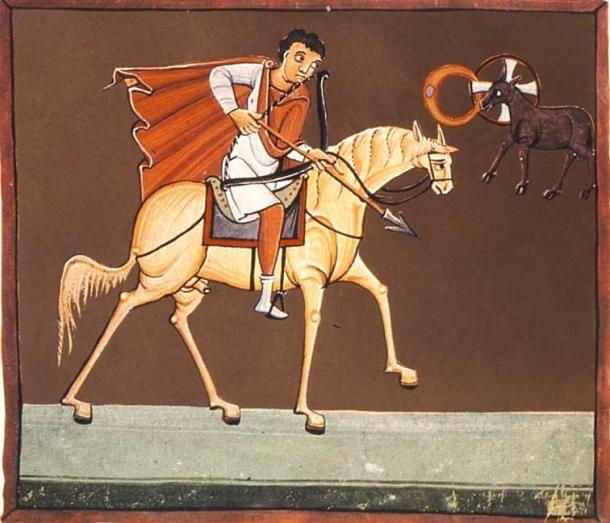 The first horseman, the White Rider, of the Four Horsemen of the Apocalypse. (Batchheizer / Public Domain)