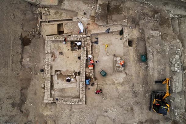 This is the foundation of a building dating to the 7th century AD. The entire site lies near the modern city of Uzes. Evidence of the first people first to live in Ucetia goes back to around the 2nd century BC. Authorities found the ancient town when archaeologists surveyed and excavated to find any old buildings in 2016 to prepare for construction of a school.