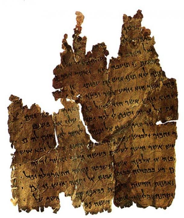 A fragment from the Dead Sea Scrolls collection known as the Damascus document.