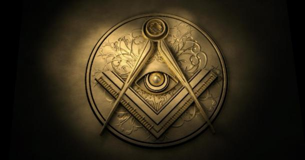 The freemason / Eye of Providence symbol with the square and compass. (markus dehlzeit / Adobe stock)