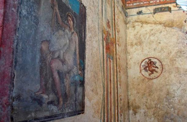 This fresco of Leda and the Swan persuaded the experts to concentrate on the villa.