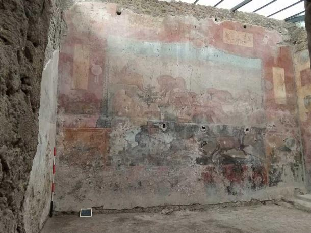The faded fresco before it underwent restoration. (Pompeii Sites)
