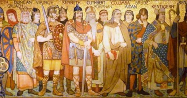 Detail from a frieze in the Scottish National Portrait Gallery, Queen Street, Edinburgh. (rampantscotland.com)
